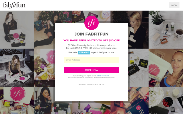 $10 Off and Free Shipping on FabFitFun