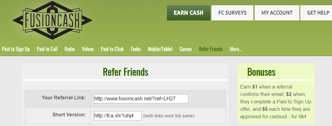 Get-Paid-To Website. Make $5 using the referral link