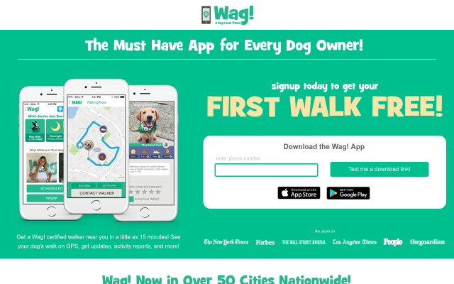 $20 Wag! Dog Walking Credit- First Walk Free!