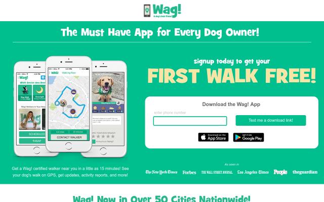 $20 Wag! Dog Walking Credit- First Walk Free!