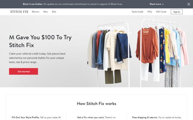 Get $100 Stitch Fix Credit