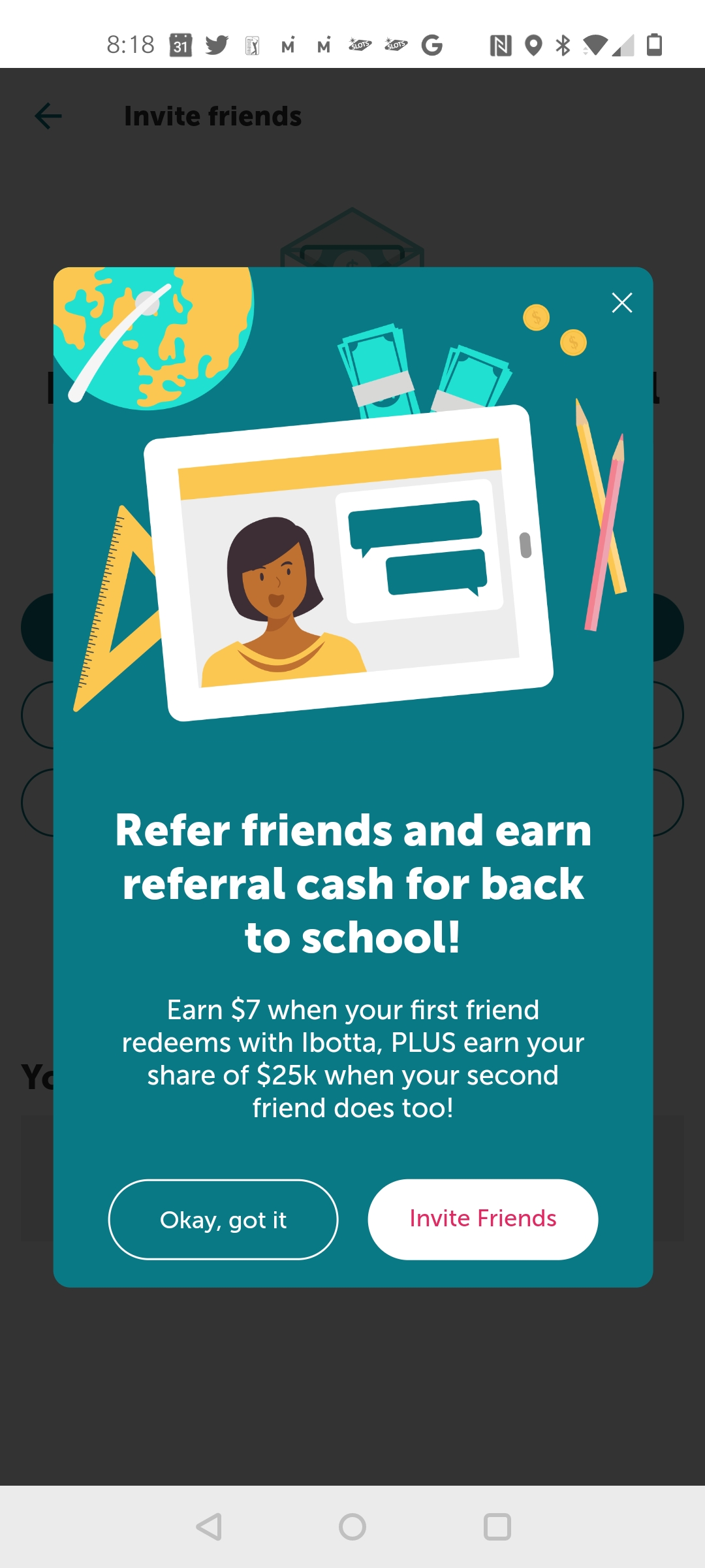 Get $7 credit when you join Ibotta. Only $10 to Redeem cash back earnings