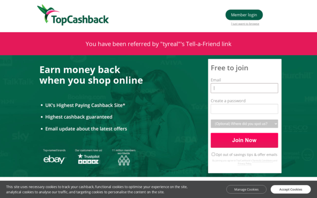 Get 5GBP if you singup by using my referral link