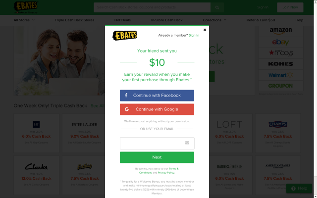 I  get Cash Back when I shop online - Sign up with Ebates and you can too!