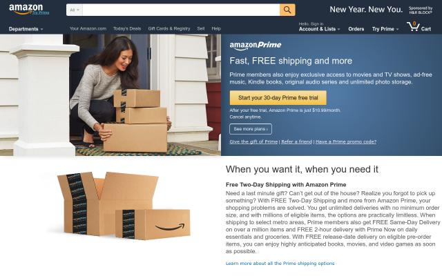 Free Amazon Prime 6 month trial