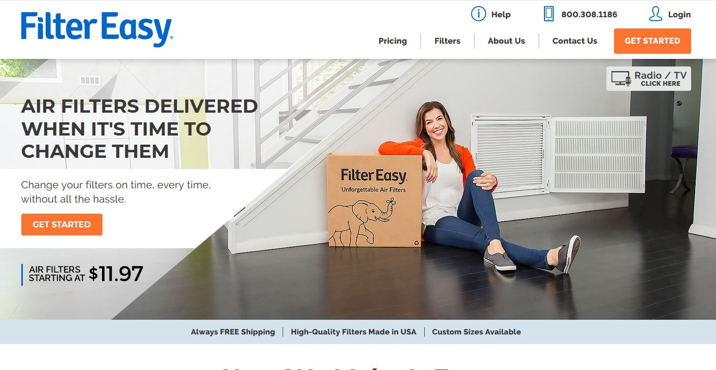 Get your first order of HVAC Air filters for free of cost + free shipping on every order