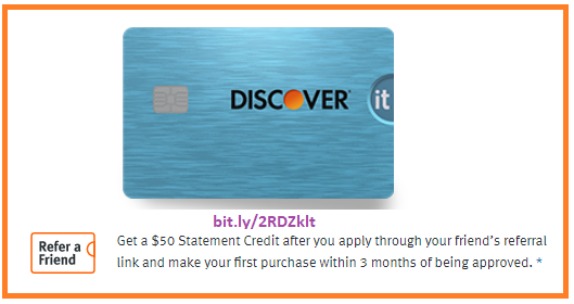Get a $50 Statement Credit when you make your first purchase within three months.
