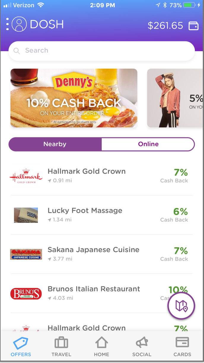 Dosh Cash Back App $15 Sign-Up Bonus and $5 Referral Rewards