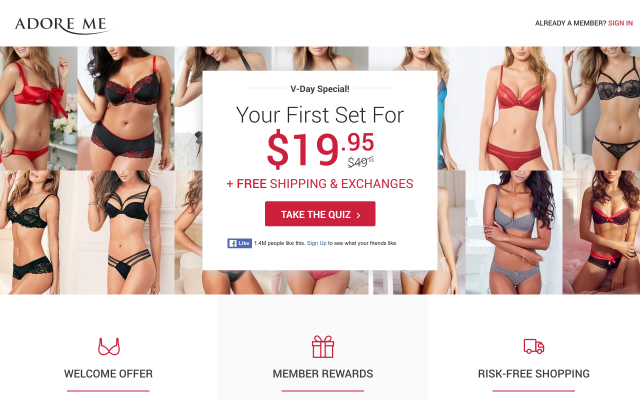 Get $15 on Adore Me using my Referral