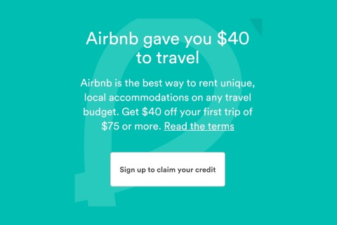 $40 Off Your First Booking for New Customers at Airbnb