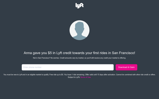 Get $10 Lyft Credit through my link