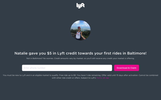 Get upto $20 in free ride credit using my link