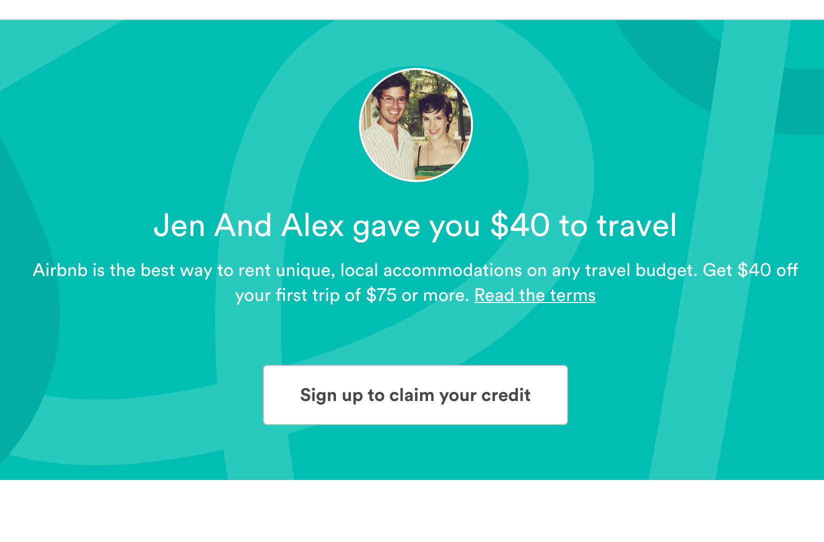 Get $40 Off First Airbnb Trip