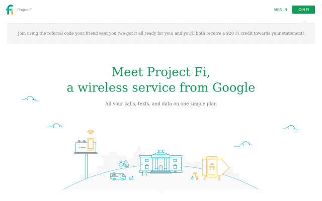 Get $20 Project Fi credit when you sign up.